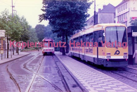 Krefeld Straßenbahn - Ostwall - Linie 43 Wagen Nr. 832