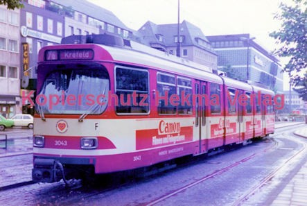 Krefeld Straßenbahn - Ostwall - Linie 76 Wagen Nr. 3043 - Bild 2