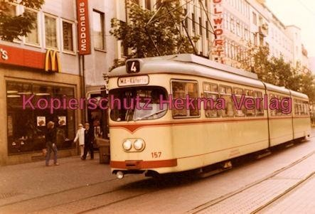 Ludwigshafen Straßenbahn - Ludwigstr. - Linie 24 Wagen Nr. 157