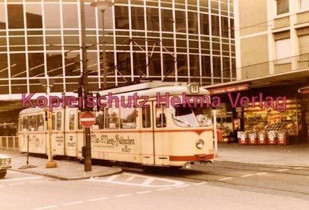 """Ludwigshafen Straßenbahn - Berliner Platz """"Tortenschachtel"""" - Linie 19 Wagen Nr. 134"""