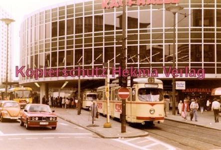 """Ludwigshafen Straßenbahn - Berliner Platz """"Tortenschachtel"""" - Linie 9 Wagen Nr. 104 - Bild 2"""