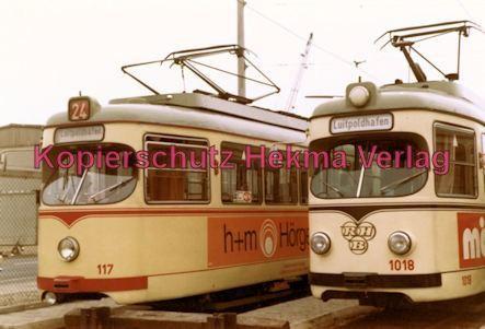 Ludwigshafen Straßenbahn - Depot Luitpoldhafen - Wagen Nr. 117 und Nr. 1018 - Bild 1