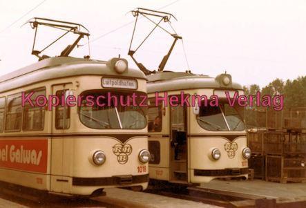 Ludwigshafen Straßenbahn - Depot Luitpoldhafen - Wagen Nr. 117 und Nr. 1018 - Bild 2