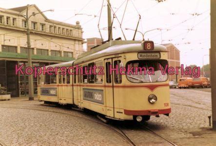 Ludwigshafen Straßenbahn - Depot Luitpoldhafen - Linie 8 Wagen Nr. 108