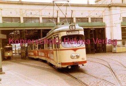 Ludwigshafen Straßenbahn - Depot Luitpoldhafen - Linie E Wagen Nr. 154