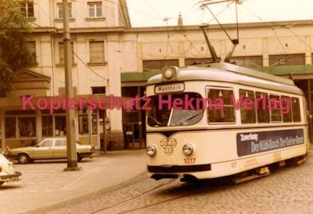 Ludwigshafen Straßenbahn - Depot Luitpoldhafen - Wagen Nr. 1017