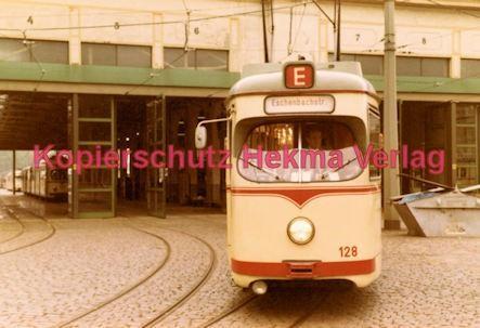 Ludwigshafen Straßenbahn - Depot Luitpoldhafen - Linie E Wagen Nr. 128