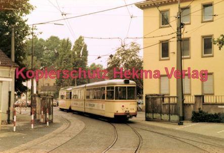 Ludwigshafen Straßenbahn - Depot Luitpoldhafen - Wagen Nr. 1218