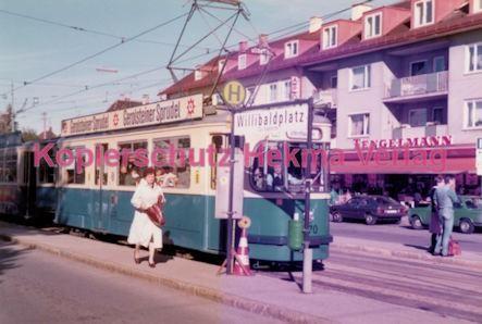 München Straßenbahn - Haltestelle Willibaldplatz - Wagen