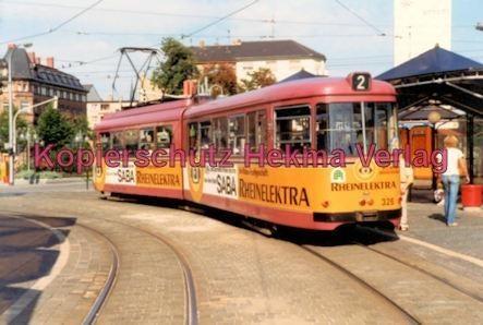 Mannheim Straßenbahn - Vor der Kurpfalzbrücke - Linie 2 Wagen Nr. 326