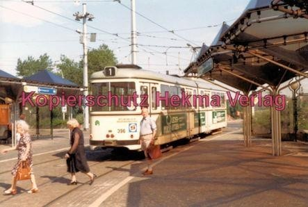 Mannheim Straßenbahn - Linie 1 Wagen Nr. 396