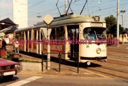 Mannheim Straßenbahn - Linie 16 Wagen Nr. 373