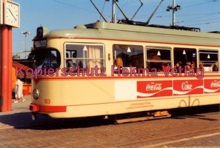 Mannheim Straßenbahn - Linie 3 Wagen Nr. 103