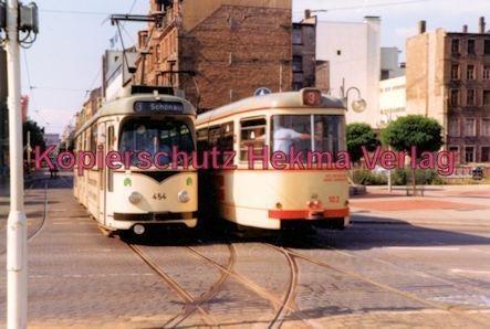 Mannheim Straßenbahn - Linie 3 Wagen Nr. 454 und Wagen Nr. 103