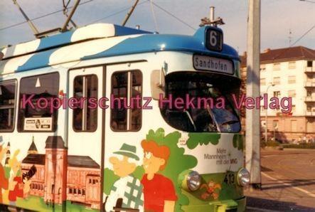 Mannheim Straßenbahn - Linie 6 Wagen Nr. 413 - Bild 1