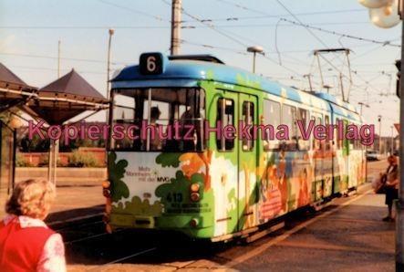 Mannheim Straßenbahn - Linie 6 Wagen Nr. 413 - Bild 2