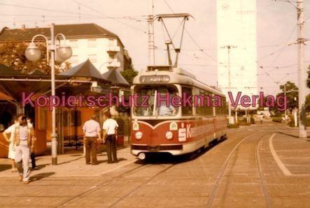 Mannheim Straßenbahn - Linie 7 Wagen Nr. 466