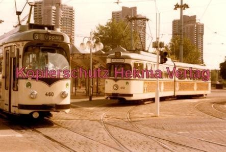 Mannheim Straßenbahn - Linie 3 Wagen Nr. 460 und Linie 2 Wagen Nr. 412