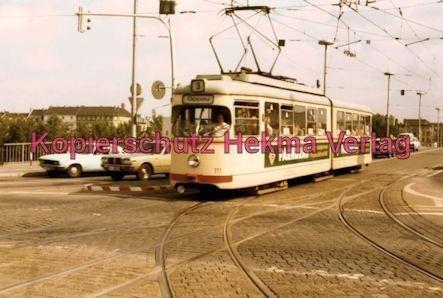 Mannheim Straßenbahn - Linie 3 Wagen Nr. 111