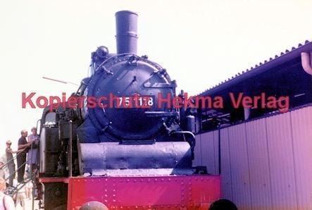 Offenburg Eisenbahn - Ausbesserungswerk - Lok Nr. 75 118 - Bild 1