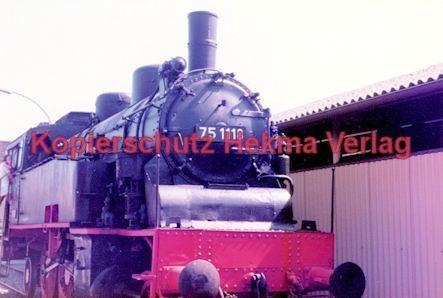 Offenburg Eisenbahn - Ausbesserungswerk - Lok Nr. 75 118 - Bild 2
