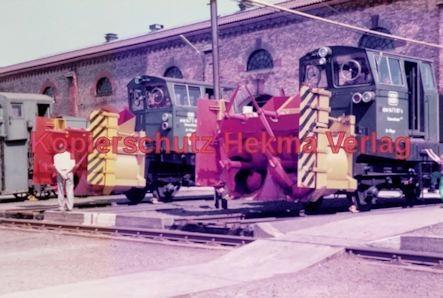 Offenburg Eisenbahn - Ausbesserungswerk - Schneeräumfahrzeuge - Bild 3