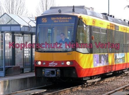 Karlsruhe Straßenbahn - Wörth - Haltestelle Wörth-Bürgerpark - AVG - S5 Wagen Nr. 862 - Bild 1