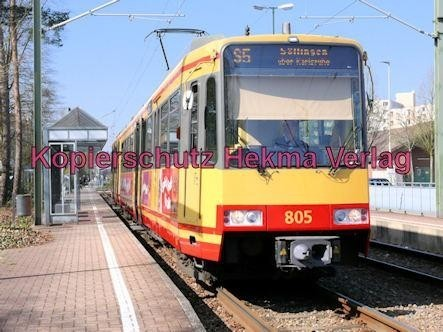 Karlsruhe Straßenbahn - Wörth - Haltestelle Wörth-Bürgerpark - AVG - S5 Wagen Nr. 805 - Bild 2