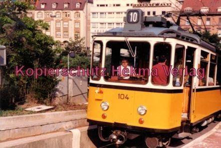 Stuttgart Zahnradbahn - Marienplatz-Degerloch - Linie 10 Wagen Nr. 104 - Bild 1