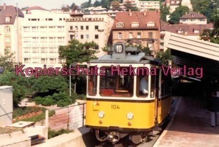 Stuttgart Zahnradbahn - Marienplatz-Degerloch - Linie 10 Wagen Nr. 104 - Bild 2