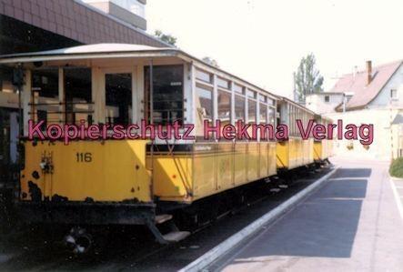 Stuttgart Zahnradbahn - Marienplatz-Degerloch - Bahnhof Degerloch - Linie 10 Wagen Nr. 116