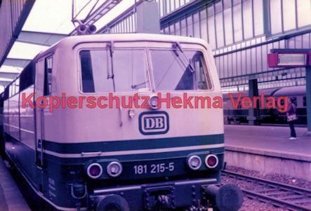 Stuttgart Eisenbahn - BDEF e.V. Tagung in Stuttgart - Stuttgart Hbf. - DB Lok Nr. 181 215-5