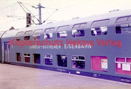 Stuttgart Eisenbahn - BDEF e.V. Tagung in Stuttgart - Stuttgart Hbf. - Lübeck-Büchener-Eisenbahn - Doppelstockwagen Nr. 8 - Bild 1
