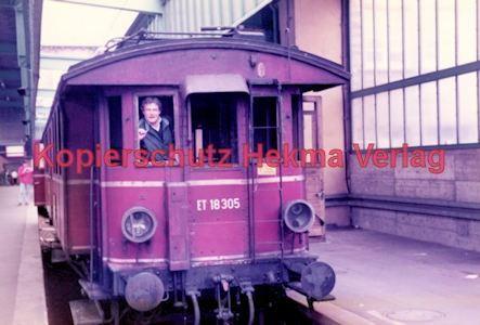 Stuttgart Eisenbahn - BDEF e.V. Tagung in Stuttgart - Stuttgart Hbf. - ET 18 305 - Bild 3
