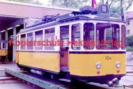 Stuttgart Straßenbahn - BDEF e.V. Tagung in Stuttgart - Zahnradbahn - Depot - Wagen Nr. 104 - Bild 1