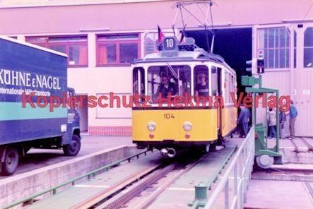 Stuttgart Straßenbahn - BDEF e.V. Tagung in Stuttgart - Zahnradbahn - Depot - Wagen Nr. 104 - Bild 2