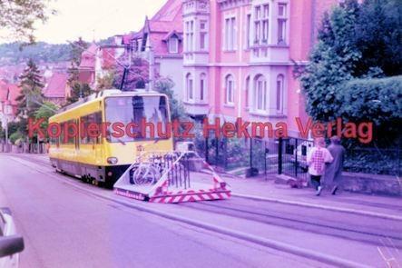 Stuttgart Straßenbahn - BDEF e.V. Tagung in Stuttgart - Zahnradbahn - SSB - Linie E Wagen Nr. 1003 mit Rollwagen für Fahrräder