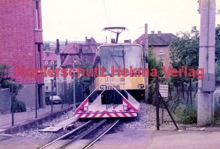 Stuttgart Straßenbahn - BDEF e.V. Tagung in Stuttgart - Zahnradbahn - SSB - Linie 10 Wagen Nr. 1001 mit Rollwagen für Fahrräder - Bild 1