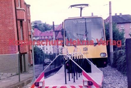 Stuttgart Straßenbahn - BDEF e.V. Tagung in Stuttgart - Zahnradbahn - SSB - Linie 10 Wagen Nr. 1001 mit Rollwagen für Fahrräder - Bild 2
