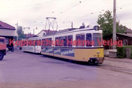 Stuttgart Straßenbahn - BDEF e.V. Tagung in Stuttgart - Linie 6 Wagen Nr. 591 - Bild 1
