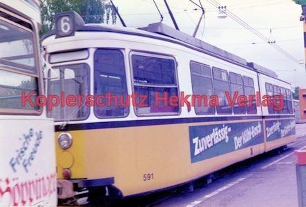 Stuttgart Straßenbahn - BDEF e.V. Tagung in Stuttgart - Linie 6 Wagen Nr. 591 - Bild 2
