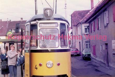 Ulm Straßenbahn - Haltestelle Söftlingen - Linie 1 Wagen Nr. 4 - Bild 1