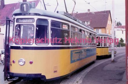 Ulm Straßenbahn - Haltestelle Söftlingen - Linie 1 Wagen Nr. 4 - Bild 2