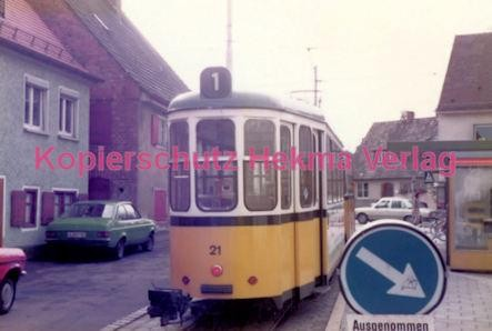 Ulm Straßenbahn - Haltestelle Söftlingen - Linie 1 Wagen Nr. 21