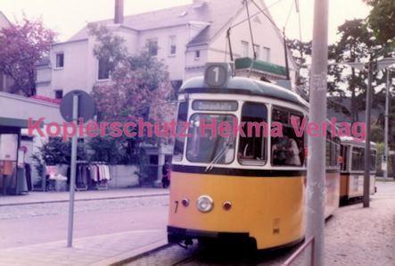 Ulm Straßenbahn - Haltestelle Söftlingen - Linie 1 Wagen Nr. 7