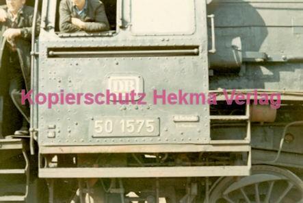 Bruchsal Eisenbahn - Bahnhof Bruchsal - Lok 50 1575 - Bild 2
