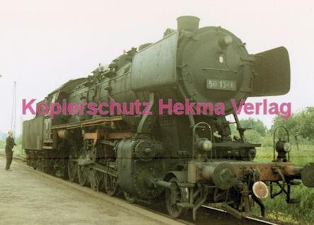 Godramstein/Pfalz Eisenbahn - Bahnhof Godramstein - Lok 50 1346 - Bild 1