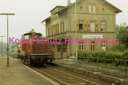 Godramstein/Pfalz Eisenbahn - Bahnhof Godramstein - Lok V 60 805 - Bild 1