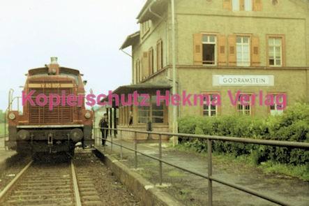 Godramstein/Pfalz Eisenbahn - Bahnhof Godramstein - Lok V 60 805 - Bild 2