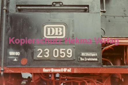 Godramstein/Pfalz Eisenbahn - Bahnhof Godramstein - Lok 23 059 - Bild 3